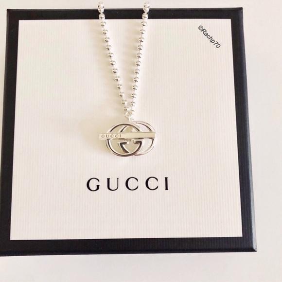 2fbd549e5 New Authentic Gucci Britt Double G Silver Necklace. Boutique. Gucci. $298  $0. Size